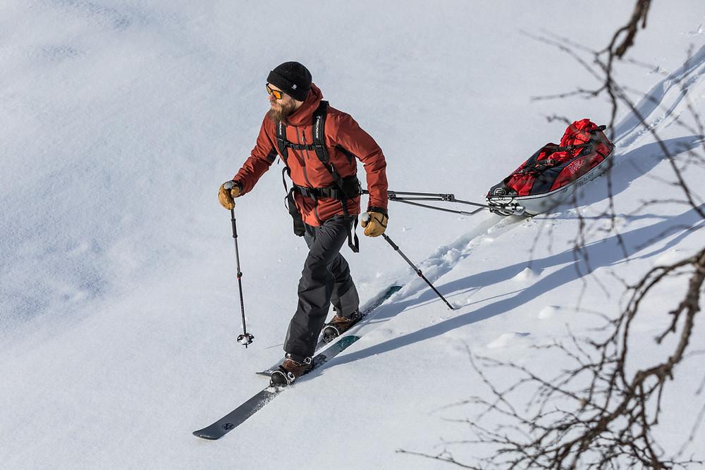 Winter trekking with Skinbased™ skis