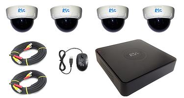 Комплект для видеонаблюдения из 4-х видеокамер