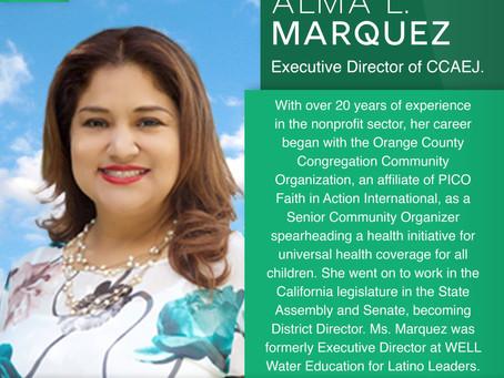 Announcing our Executive Director: Alma Marquez!