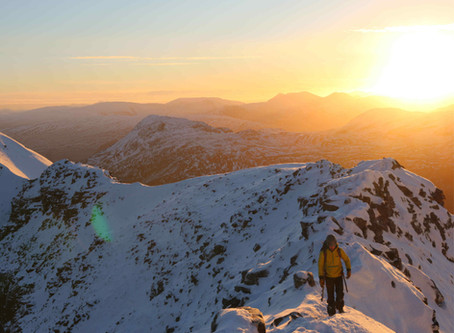 'Sun kissed' winter traverse of Liathach