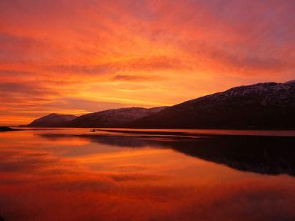 Sunset on the west coast of Scotland