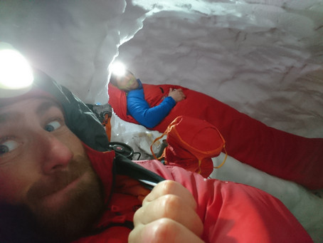 Snow holing in the Cairngorms, What's it all about? It felt about -30 deg C...
