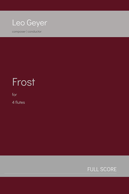 Frost - Printed Copy (score & parts)