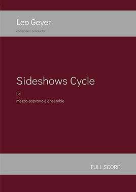 Sideshows Cycle - Printed Copy (score & parts)