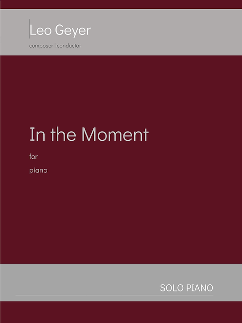 In the Moment - Printed Copy