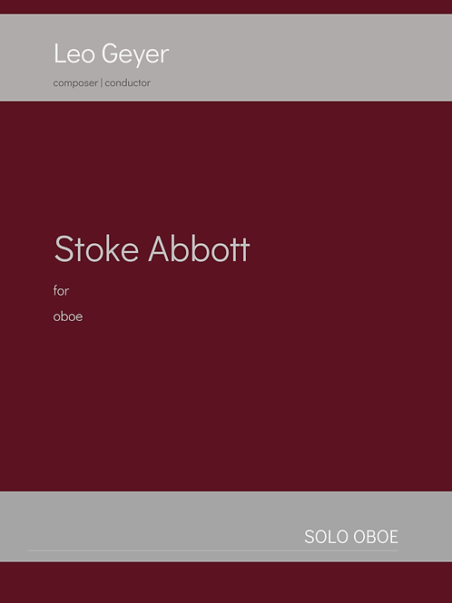 Stoke Abbott - Printed Copy