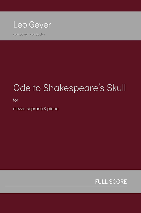 Ode to Shakespeare's Skull - Printed Copy