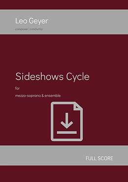 Sideshows Cycle - Digital Download (score & parts)