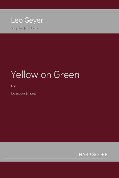 Yellow on Green - Printed Copy (score & parts)