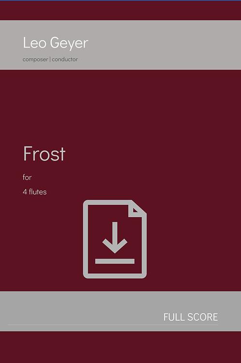 Frost - Digital Download (score & parts)