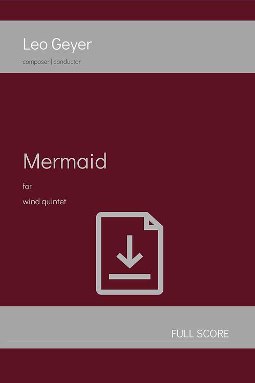 Mermaid - Digital Download (score & parts)