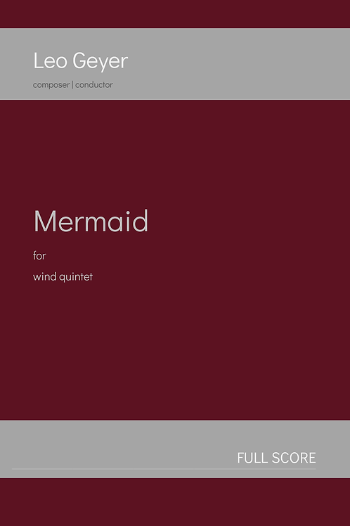 Mermaid - Printed Copy (score & parts)