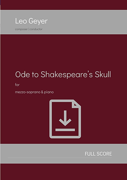 Ode to Shakespeare's Skull - Digital Download