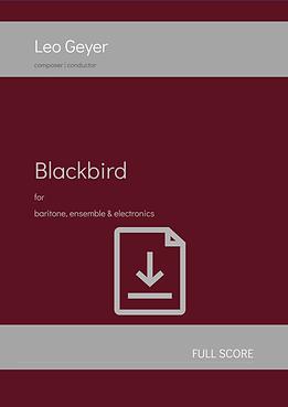 Blackbird - Digital Download (score & parts)
