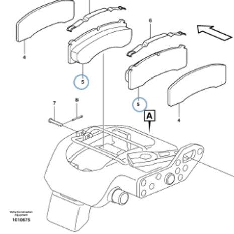 Park Brake Liner Kit P/N 11713355