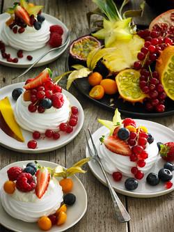 NATASJA VERSCHOOR AH KERSTFOLDER Dessert exotisch fruit