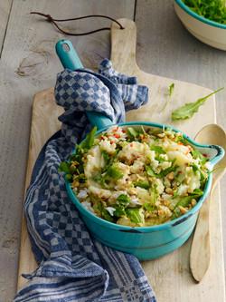 NATASJA VERSCHOOR LIDL KOOKBOEK Rucola met rijst aardappels