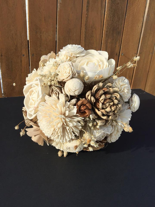 Natural Wood Flower Bouquet