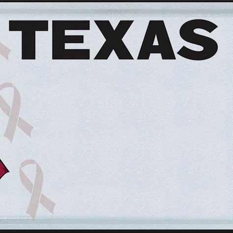 TX SICKLE CELL DISEASE LICENSE PLATES
