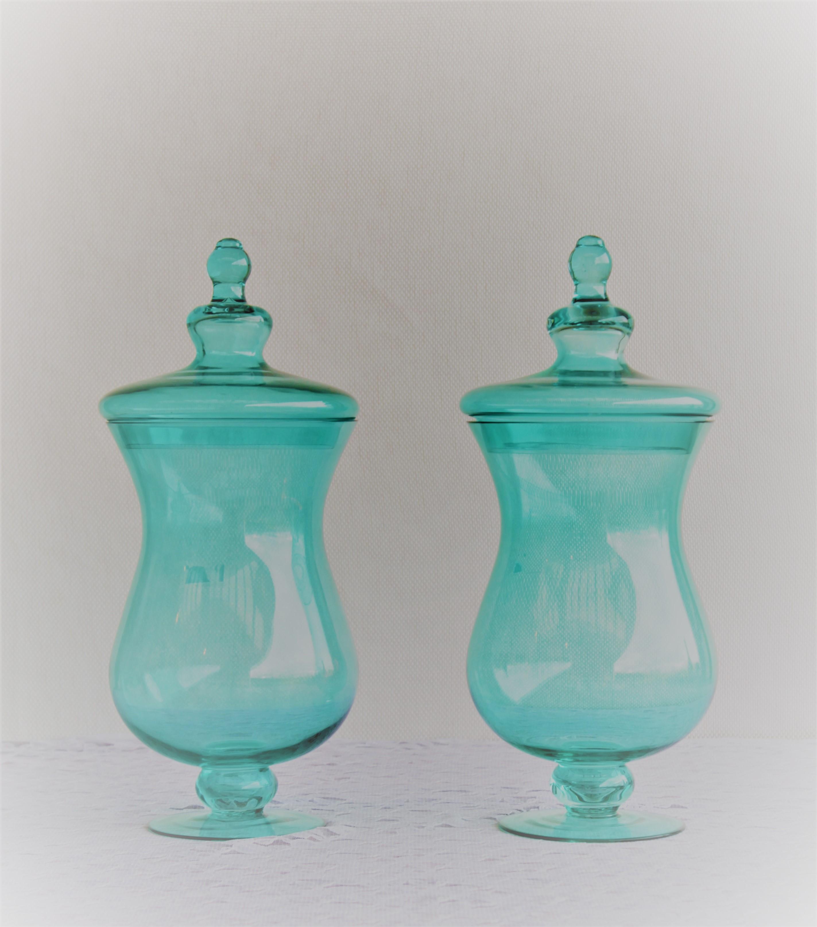 Large Blue Jars
