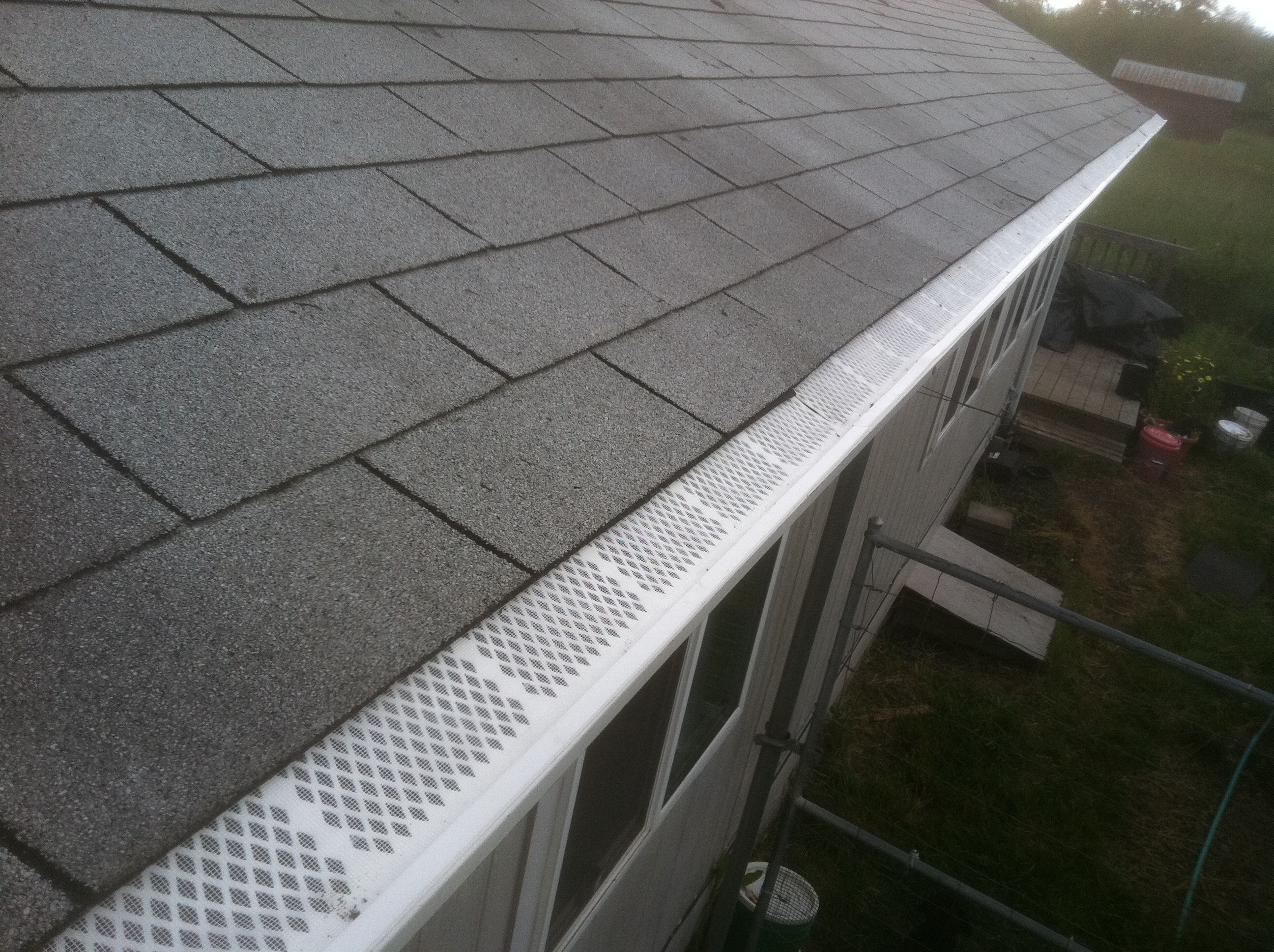Rain Gutter Cleaning - After