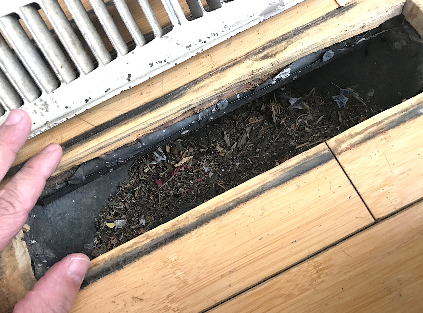 Air Duct Cleaning - Before
