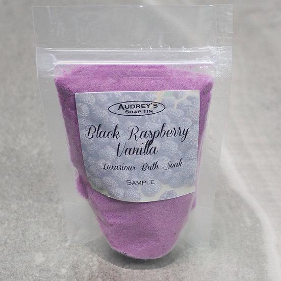 Black Raspberry Vanilla Luxurious Bath Soak - Sample