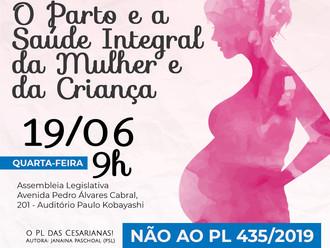 Audiência Pública sobre o PL das Cesarianas (SP)