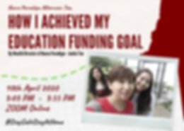 How I achieved my education funding goal