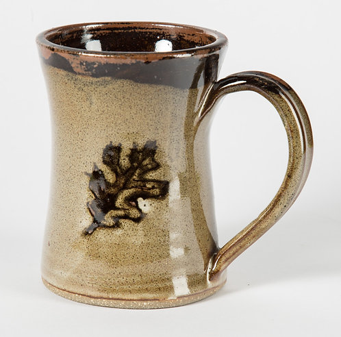 Oak leaf coffee mug. 12 oz.