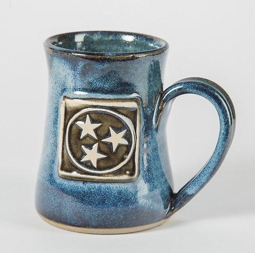 Cobalt Blue Tennessee tri-star mug