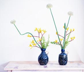 お花のうつわも素敵な久保田健司さんの個展、好評開催中です!