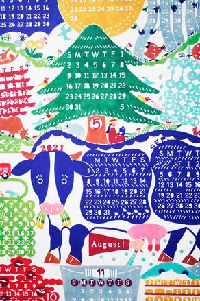 kata kataさんのカレンダーと手ぬぐい