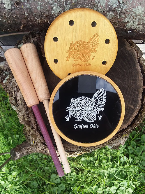 Yellowheart glass over glass. Sound clip on YouTube @S.T.D Turkey Calls