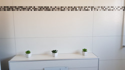 Wand: 30x90 + Mosaik
