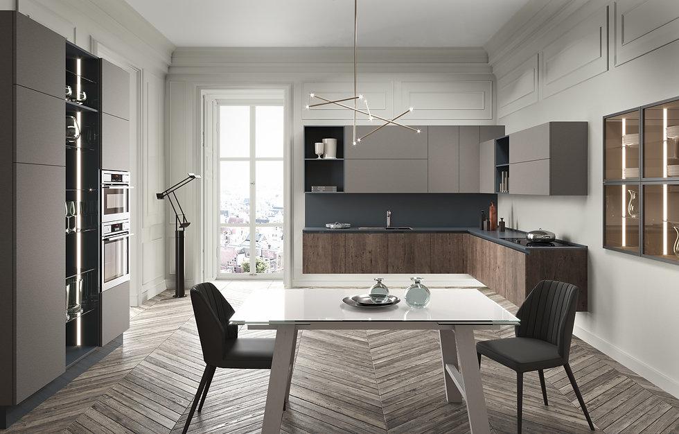 rendering-cucina-con-tavolo-ambiente-neoclassico