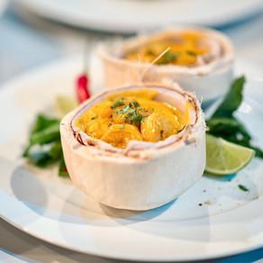 Krevety s kokosovým mlékem a žlutým thajským curry + historie kari