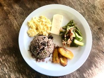 Gallo pinto - typická kostarická snídaně