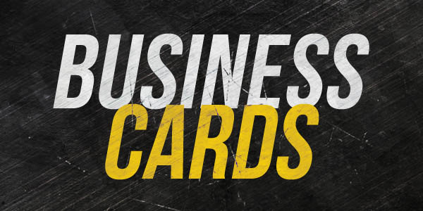 Flat Ink Business Cards