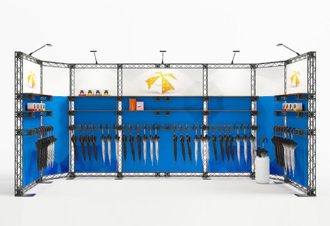 6x2 m Reihenstand X-10 Messetraversen KOHLSCHEIN | Systemmessestände