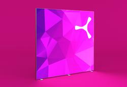 DIY-LED-Werbewand 200x200 cm mit Alu-Rahmen und beidseitiger Textilbespannung