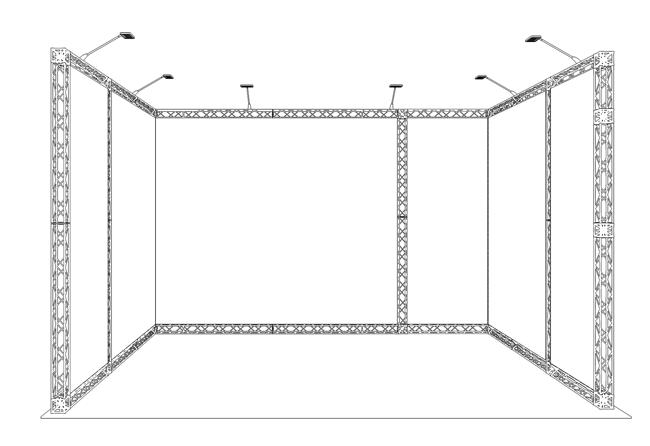 X-10 Module 4x3 m Messestand