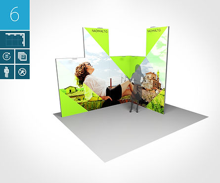Messestand 3 x 2 Meter proFAIRssional Messestand System