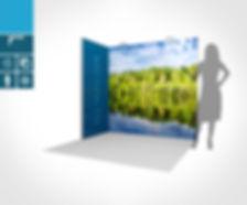 Eckstand 2 x 1 Meter mit mobilen Messesystem proFAIRssional by Kohlschein Messe mit System