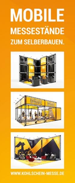 Mobiler Messestand Textilgrafik mit Messestand Konfigurationen KOHLSCHEIN|Messe mit System