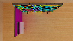 Kluban mobiler LED-Messestand-by-Luban inkl. TV-Halterung und Ablage