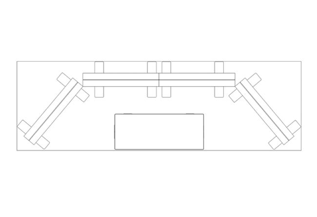 Pixlip Go-3-x-1-m-Reihenstand