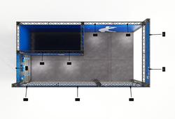 Modularer Mietmessestand als Eckstand 4x2 m