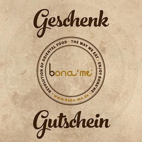 bona'me Gutschein