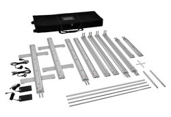 Kohlschein-LED-Präsentationswand Alu alle Modulelemente inklusive Transporttasche gepolstert